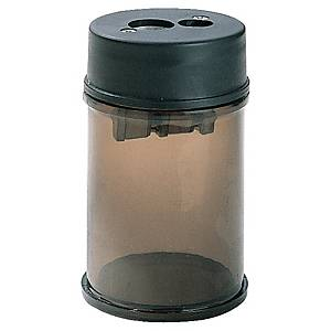 Pencil Sharpener Double Hole Clear Barrel