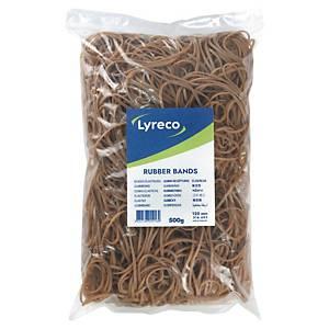 Élastiques Lyreco, 2 x 120 mm, le sac de 500 g