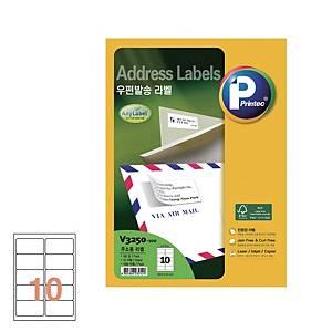 PK100 PRINTEC V3250 MULTI-PURPOSEUR LAB 88.9X52