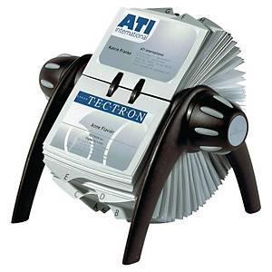 Tarjetero rotativo Durable Visifix Flip - 215 x 120 mm - 400 tarjetas - negro