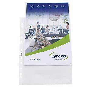 Zeigbuchtaschen Lyreco, A4, 80 my, glänzend, Packung à 100 Stück