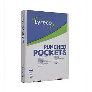 BX100 LYRECO PUNCHED POCK GLASS 80MI A4