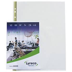 Plastlomme Lyreco, med huller, A4, 80 µm venstre åbning, pose a 25 stk.