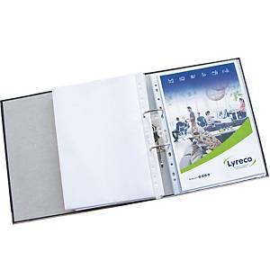 Pochette perforée Lyreco Premium, A4, PP 120 microns, granulée, les 25 pièces