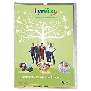 LYRECO BUDGET A4 CARD HOLDER POCKETS 130 MICRONS - PACK OF 25