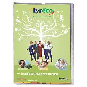 Lyreco Budget card holders U-shape PP A4 (21x29,7 cm) transparent - pack of 25
