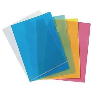 Lyreco Premium muovitasku A4 150mic PP appelsiini kirkas, 1 kpl=25 taskua