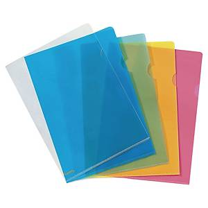 LYRECO PREMIUM A4 CLEAR CUT FLUSH PLASTIC FOLDERS 150 MICRONS - PACK OF 25