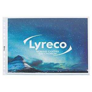 LYRECO TOP OPENING LANDSCAPE A3 PUNCHED POCKET - PACK OF 10