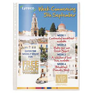 Lyreco A3 Portrait Punched Pockets 80 Microns - Pack of 10