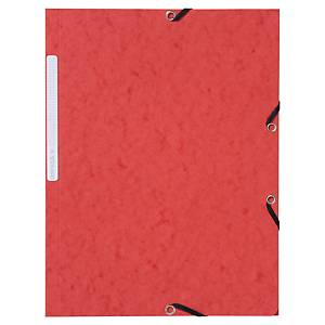 Gummibandsmapp Lyreco, 3 klaffar, A4, röd, förp. med 10 st