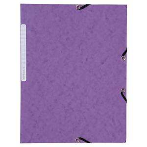 PK10 LYRECO 3FLAP ELAST FOLDER 32X24 PPL