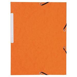 Odkladacia mapa s 3 chlopňami + gumička Lyreco A4 oranžová, balenie 10 kusov