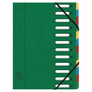 Exacompta Harmonika multipart file 12 vakken cardboard 500g assorti