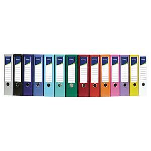 Classeur à levier Lyreco - dos 8 cm - coloris classiques - lot de 10