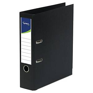 Lyreco Lever Arch File PP A4+ Black - Pack Of 10