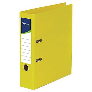 Lyreco Lever Arch File PP A4+ Yellow - Pack Of 10