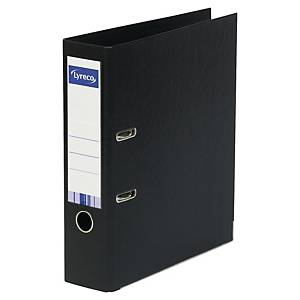 LYRECO PP LEVER ARCH FILE FOLIO-F/CAP 45MM BLACK