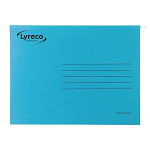 Lyreco Premium Suspension Files Foolscap V-Base Blue - Pack Of 50