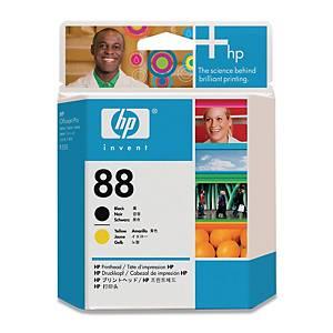 HP C9381A print head inkjet cartridge nr.88 black/yellow [90.000 pages]