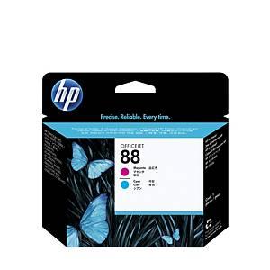 Testina di stampa HP No.88 C9382A,45 000 pagine, ciano/magenta