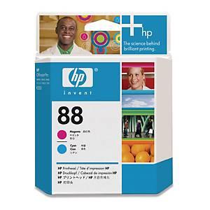 HP C9382A tête impression cartouche jet d encre nr.88 rouge/bleue [90.000 pages]