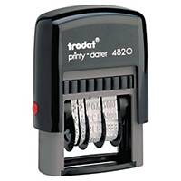 Trodat 4820 Printy Self-inking Dater Chop Black 4mm