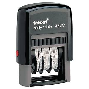 Trodat 4820 Printy Self-inking Dater Chop Black 4mm
