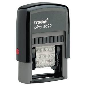 Tampon Trodat Office Printy 4822 avec bande de texte, néerlandais