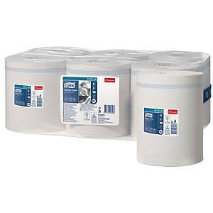 TORK M-BOX CENTREFEED 1 PLY VIRGIN WHITE WIPES REFILL ROLLS - PACK OF 6
