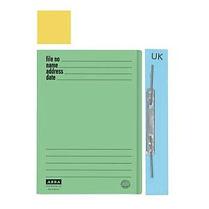ABBA 102UK Manilla Yellow Card Folder