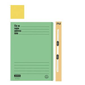 ABBA 102PM Manilla Card Folder Yellow