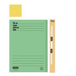 ABBA 102PM Manilla Card Folder Yellow
