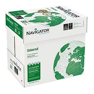 Papier multiusage Navigator Universal A4, 80g/m2, blanc, 2 500 feuilles volantes