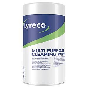 Fazzoletti imbevuti Lyreco con detergente antistatico - conf. 100
