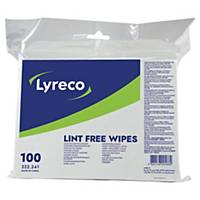 Renseklude Lyreco, fnugfri pakke a 100 stk.