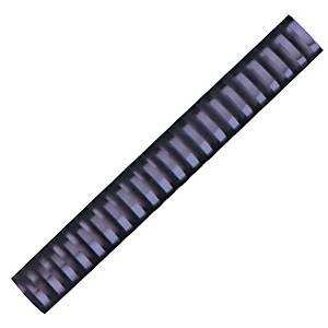 Hata Plastic Combs 25mm Black - Pack of 10