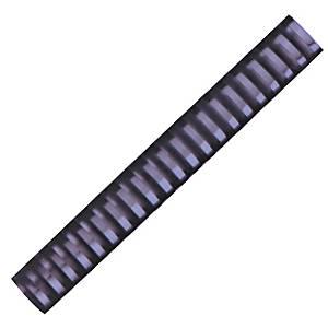 Hata Plastic Combs 28mm Black - Pack of 10