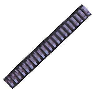Hata Plastic Combs 28mm Black - Pack of 10