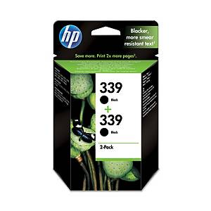 Hewlett Packard 339 C9504A Inkjet Cartridge Black - Pack Of 2