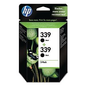 HP 339 2-PACK BLACK ORIGINAL INK CARTRIDGES (C9504EE)