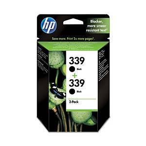 Hewlett Packard 339 C9504A Inkjet Cartridge Black - Pack Of 2