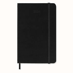 Moleskine Pocket agenda met zwarte hardcover, 7 dagen op 2 pagina s, Engelstalig