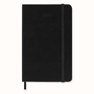 Moleskine Pocket agenda met zwarte hardcover, 1 dag per pagina, Engelstalig