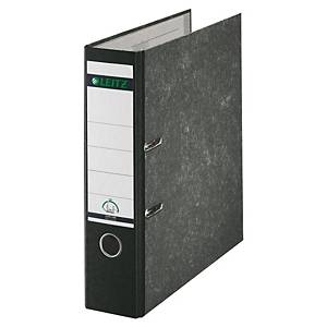 Leitz 1080 lever arch file 180 degrees spine 80 mm cloud marble black