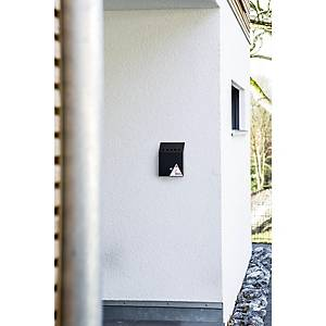 Durable Wall Mounted Ashtray Bin Black - 2.5 Litre Capacity