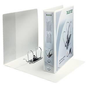 Classeur personnalisable Leitz, A4+, 2 anneaux, dos 86 mm, blanc, la pièce