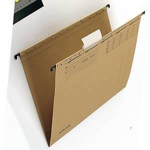 Dossiers suspendus Leitz Alpha® 1915 côté court ouvert tiroirs, A4, chamois, 25x