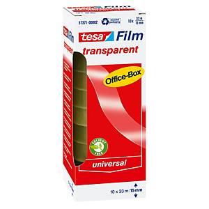 Tesa® Office transparante tape, B 15 mm x  L 33 m, per rol plakband