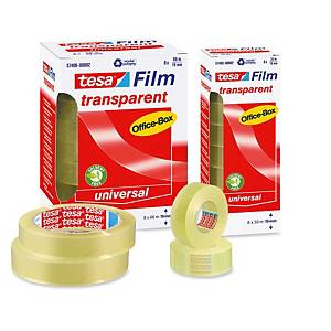 Pack 10 rolos fita adesiva transparente Tesa Office Film - 15 mm x 33 m